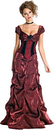Secret Wishes Dark Rose Costume Dress, Burgundy/Black, ()