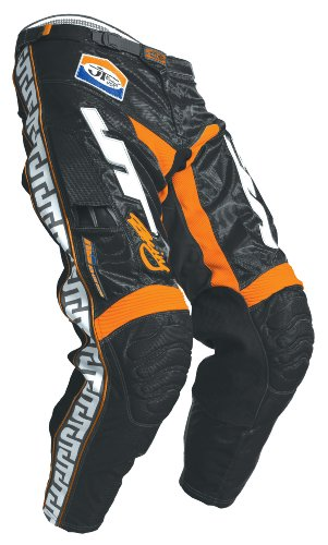 Vinyl Waist Cinch - JT Racing USA Dirt Bike MX Motocross Pants (Black/Orange, 38