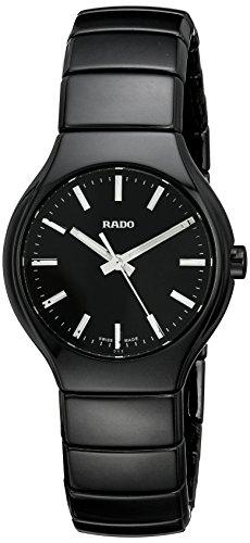 Rado Women's R27655052 True Analog Display Swiss Quartz Black Watch