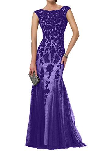 Lila Langes Abendkleider Braut 2 La Partykleider Ballkleider mia Spitze Etuikleider Meerjungfrau Damen Brautmutterkleider Trumpet 7B6BFtnZqw