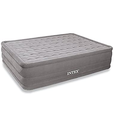 Intex Ultra Plush Airbed with Built-in Electric Pump, Queen, Bed Height 18