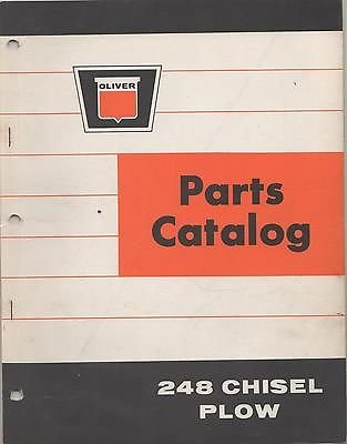 1966 OLIVER 248 CHISEL PLOW PARTS CATALOG MANUAL P/N 438 025 (103) ()