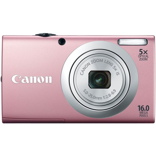 Canon PowerShot A2400 IS 16.0 MP Digital Camera with 5x Optical Image Stabilized Zoom 28mm Wide-Angle Lens with 720p…