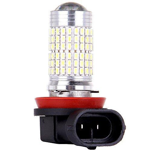 cciyu High Power H11 LED Light Bulbs H8 H9 144 SMD Chips LED Bulbs for DRL Daytime Running Light Fog Lights