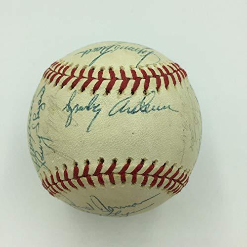 1975 Cincinnati Reds W.S. Champs Team Signed Baseball Big Red Machine COA - JSA Certified - Autographed ()