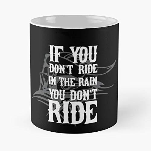 Biker Bikers Motorcycle Rain Funny Floral Coffee Mugs Gifts