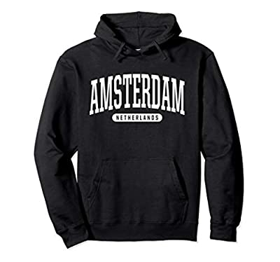 Amsterdam Hoodie Sweatshirt College University Style NL USA.