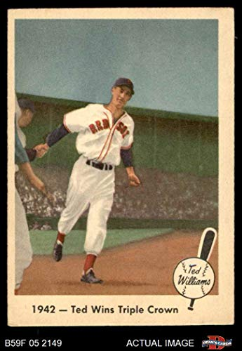 (1959 Fleer # 19 Wins the Triple Crown Ted Williams Boston Red Sox (Baseball Card) Dean's Cards 4 - VG/EX Red Sox)