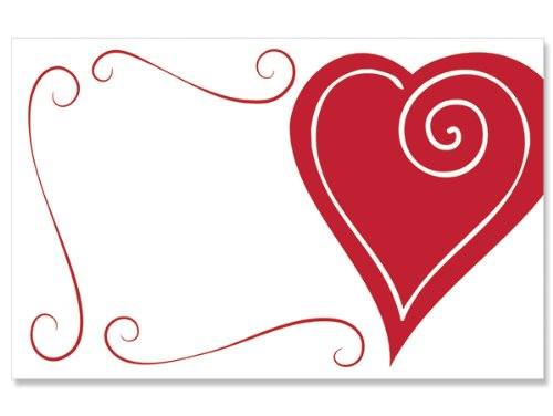 50 pack Heart Swirl Border- NoSentiment Enclosure Cards (20 unit, 50 pack per unit.) by Nas