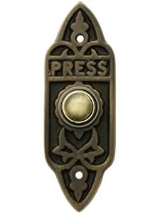 Amazon Com Solid Brass Victorian Style Doorbell Button In