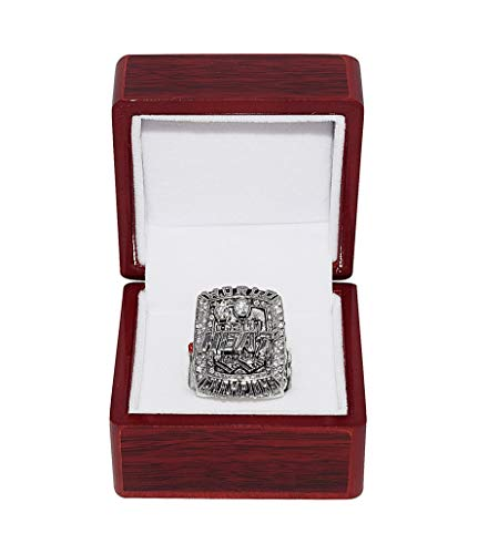(MIAMI HEAT (Lebron James) 2013 NBA FINALS WORLD CHAMPIONS (Back to Back Champs) Collectible High-Quality Replica NBA Basketball Silver Championship Ring with Cherrywood Display Box)