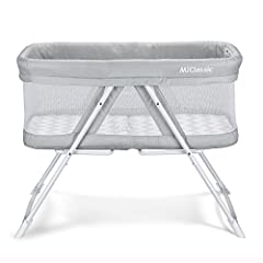 "☑ One-second open&fold system makes bassinet easy to transport or store. Please have a ""QUICK PULL UP"" to fold it! ☑ Folds compactly into included carry bag. ☑ Rock mode to soothe baby and stationary mode when asleep. ☑ Surrounded by brea..."