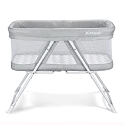 2in1 Stationary&Rock Mode Bassinet One-S...