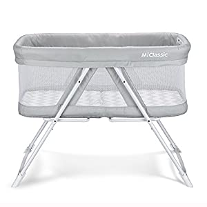 MiClassic 2in1 Rocking Bassinet One-Second Fold Travel Crib Portable Newborn Baby