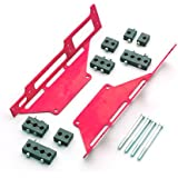 R&M Specialties 1120R Red Spark Plug Wire Loom Set with Center-Bolt Valve Cover for Small Block Chevy