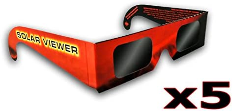 Solar Eclipse Glasses (Pack of 5) CE & ISO Certified