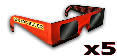 Solar Eclipse Glasses (Pack of 5) CE & ISO Certified (Best View Of Solar Eclipse 2019)