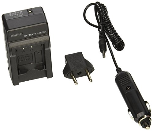 Pentax D-Li78 Compact Battery Charger by TechFuel replaces D-BC78, K-BC78 chargers for Optio L50, M50, M60, S1, V20, W60, W80 (Compact Pentax Optio)