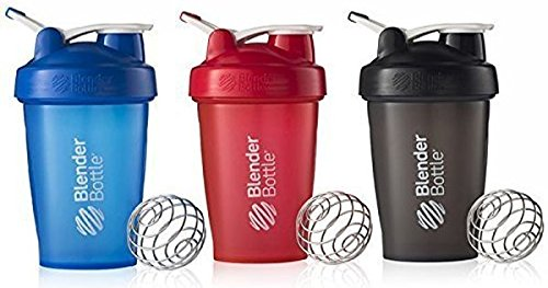 BlenderBottle 20oz Classic Loop Top Shaker Bottle 3-Pack, Full Color - Assorted
