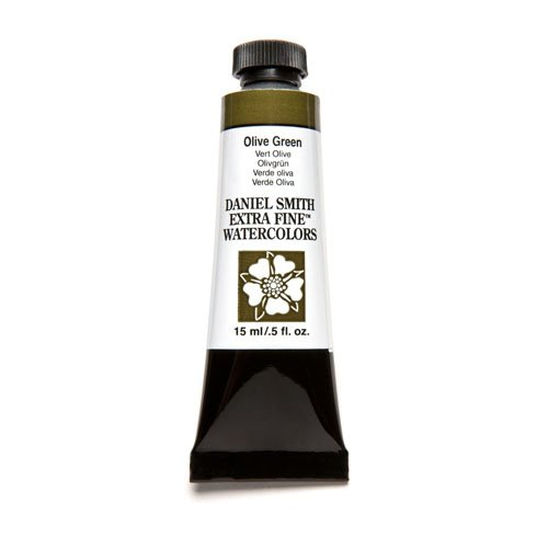DANIEL SMITH Extra Fine Watercolor 15ml Paint Tube, Olive Green