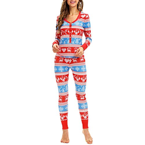 Price comparison product image Christmas Elk Pajamas Set for Women Matching Long Sleeves Tops Blouse+Pants