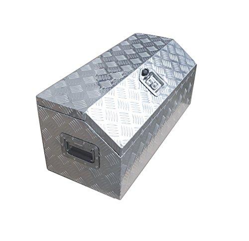 Caja de herramientas de aluminio de 76 cm para camioneta todo terreno RV., Plateado, 30x13x13