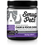 SmugPets Calming Pet Chews for Anxiety Relief for Dogs | Pet Anti Anxiety Relief Treats for Stress & Separation Anxiety | Promote Calm & Focus | All Natural | Made in The USA
