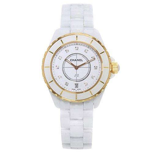 Chanel Men's H2180 J 12 White Dial Watch