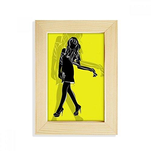 DIYthinker Silhouette Slim Beauty Woman Desktop Wooden Photo Frame Picture Art Painting 5x7 inch by DIYthinker