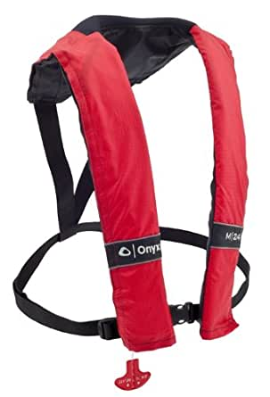 Amazon.com : Onyx M-24 Manual Inflatable Life Jacket, Red ...