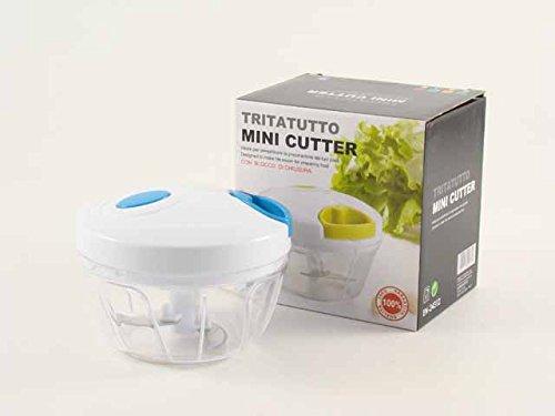 2 opinioni per Tritatutto mini cutter Euronovità manuale taglia, sminuzza, sffetta frutta,