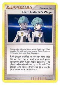 Pokemon - Team Galactic39;s Wager (115) - Mysterious Treasures - Reverse Holo