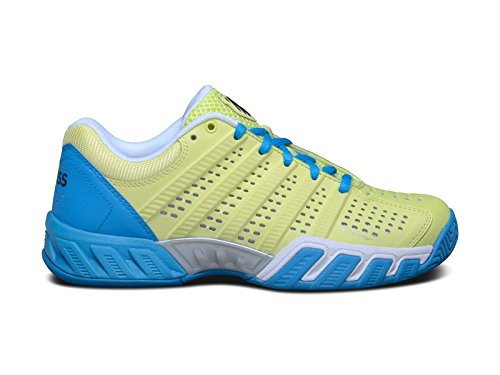K-Swiss Womens Bigshot Light 2.5/¿ Sunny Lime//Vivid Blue Synthetic Leather Athletic Shoe