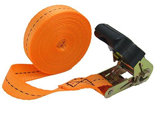 WINGONEER Endless Loop Ratchet Tie-Down Standard Duty Ratchet Endless No Hooks/Lashing, 1,700 lbs.196inch - Orange by WINGONEER®