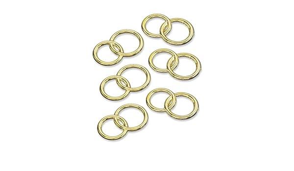 Hobbyfun 5 unidades. dispersa piezas anillos Oro o plata boda Decoración EHE aprox. 2 cm: Amazon.es: Juguetes y juegos