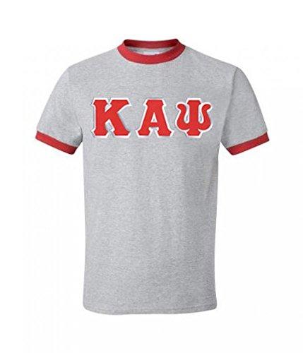 - Greekgear Men's Kappa Alpha Psi Fraternity Lettered Short-Sleeve Ringer T-Shirt (Grey) Small Grey w/Red Trim