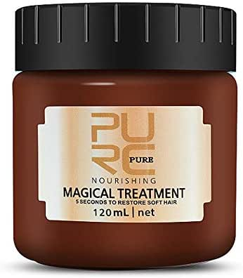 Hair Treatment Mask, Advanced Molecular Hair Roots Treatment, Professional Hair Conditioner, 5 Seconds to Restore Soft, Deep Hydrating Hair Recover Mask for Repairs Dry Damaged Hair - 120ml