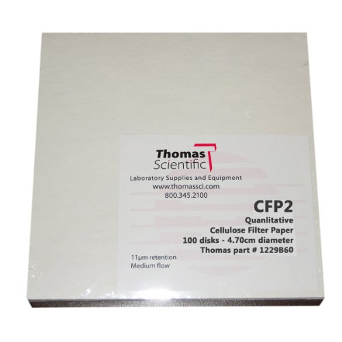 Thomas CFP2-150 Cellulose Qualitative Filter Paper, 8 Micron, Medium-Slow Flow, Grade CFP2, 15cm Diameter (Pack of 100) by Thomas (Image #1)'