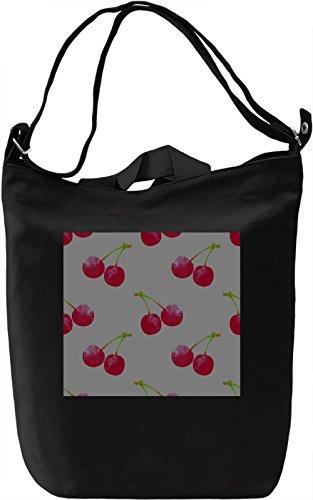 Cherry Print Borsa Giornaliera Canvas Canvas Day Bag| 100% Premium Cotton Canvas| DTG Printing|