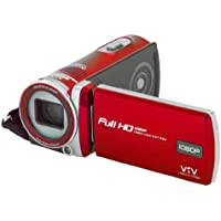 Polaroid ID975-RED16MP Camcorder with 3-Inch LCD Touch Screen (Red)