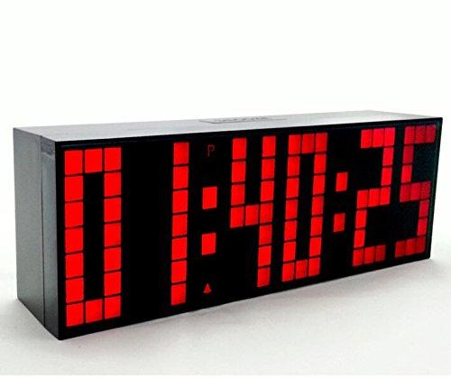 da Appendere con Conto alla rovescia e Controller a Distanza Verde Orologio Digitale LED con Sveglia Yosoo