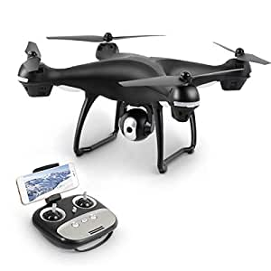 AUHKO GPS FPV RC Drone Live Video with 1080P HD Camera and GPS Return Home Quadcopter, Follow Me Mode, Altitude Hold, Intelligent Battery Long Control Range … (Muti Color)