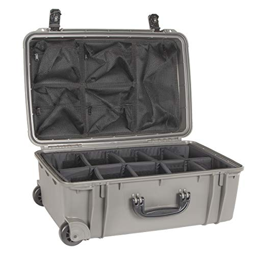 Seahorse Gunmetal Grey SE920 case with Padded dividers and Lid Organizer.