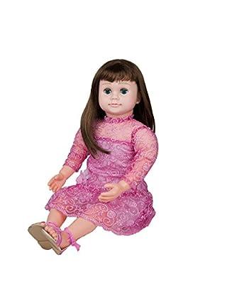 "Ask Amy 22"" Talking Interactive Singing Storytelling Smart Educational Doll Brunette Pink Sparkles Dress"