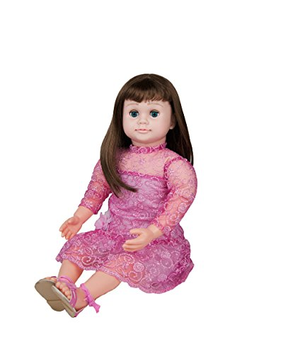 Ask Amy 22  Talking Interactive Singing Storytelling Smart Educational Doll Brunette Pink Sparkles Dress