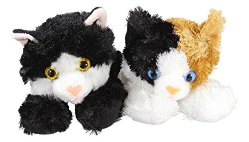 "Bundle of 2 Aurora Plush 8"" Domestic Cats - Esmerelda and Ma"