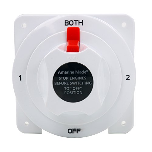 Amarine-made Battery Selector Switch White Distribution Marine Boat Battery Switch