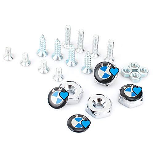 APEng 4 pcs License Plate Frame Security Screw Bolt Caps Covers for BMW E46 E39 E38 E90 E60 E36 F30 F30 E34 F10 F20 E92 E38 E91 E53 X3 X5