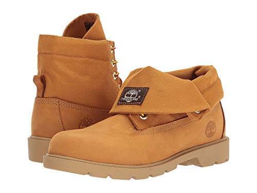 Leather Brown Roll Boots Top (Timberland Roll-Top Single Shot Boot (Toddler/Little Kid/Big Kid), Wheat Nubuck, 5 M US Big Kid)