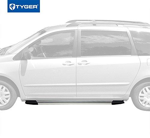 (Tyger Auto Premium Aluminum Running Boards 2pcs Fit 2011-2016 Toyota Sienna)